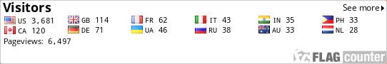 http://flagcounter.com/count/ZKm/bg=FFFFFF/txt=000000/border=CCCCCC/columns=6/maxflags=12/viewers=0/labels=1/pageviews=1/
